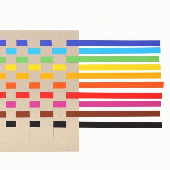 Bunte Flechtstreifen in 10 Farben sortiert