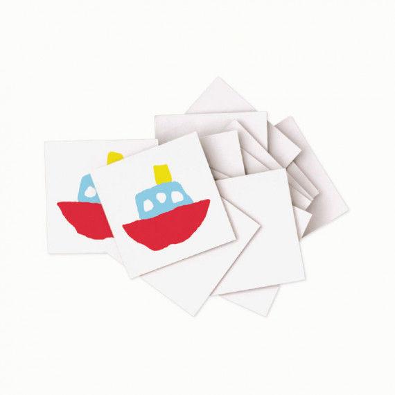Blanko Memo-Karten zum Bemalen