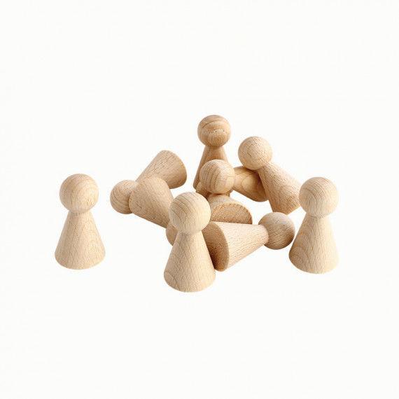 Figurenkegel Spielfiguren aus Holz zum Bemalen