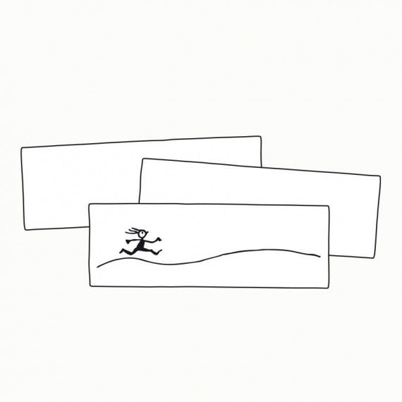 Naturweißes Papier im länglichen Format