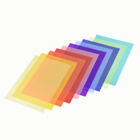 Pergamentpapier-Sortiment, 10 Blatt in 10 Farben
