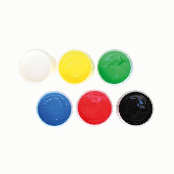 Fingerfarben-Set für Kinder, 6 Farben
