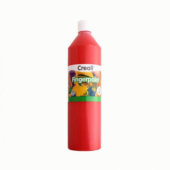 Fingerfarbe, 750ml Flasche, rot