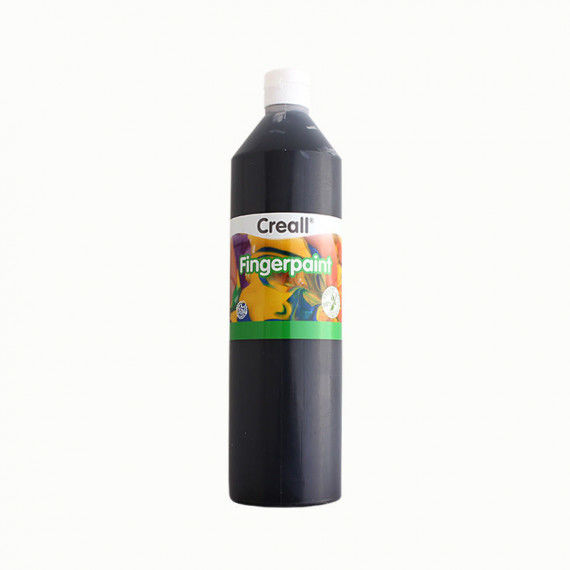 Fingerfarbe, 750ml Flasche, schwarz