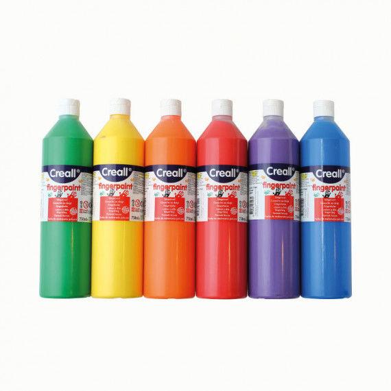 Wasserlösliche Fingerfarbe in leuchtenden Farben