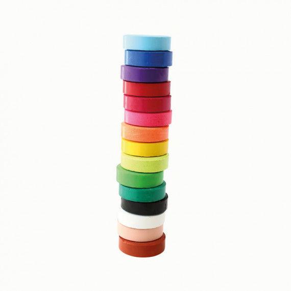Tempera Pucks in tollen Farben - Durchmesser 55 mm
