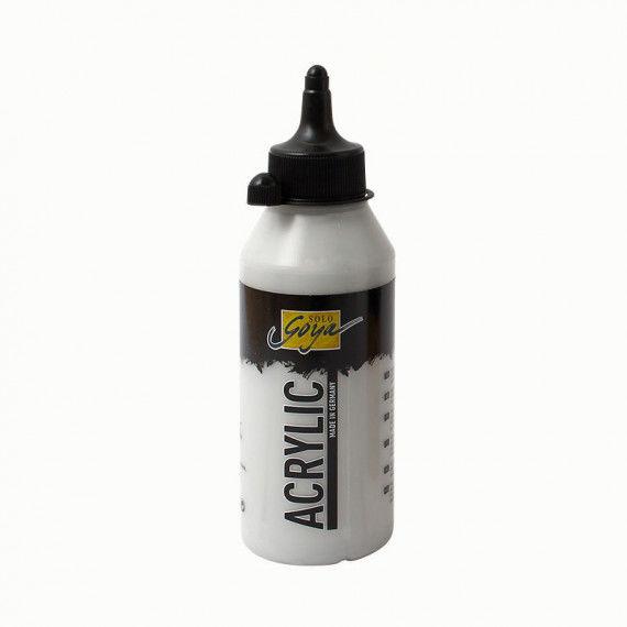 Acrylfarbe, 250 ml Flasche, silber