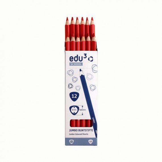 Jumbo Tri, 12 Stifte, rot