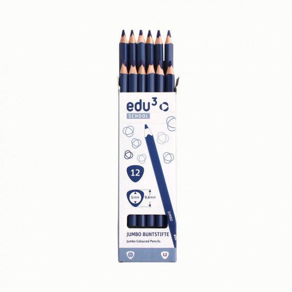 Jumbo Tri, 12 Stifte, blau