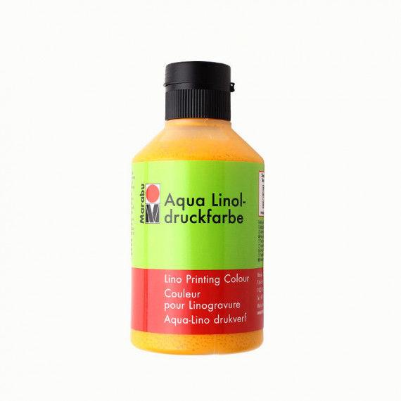 Linoldruckfarbe, 250 ml Flasche, mittelgelb