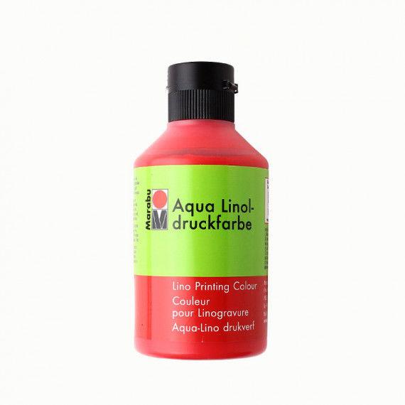 Linoldruckfarbe, 250 ml Flasche, zinnoberrot