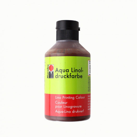 Linoldruckfarbe, 250 ml Flasche, braun