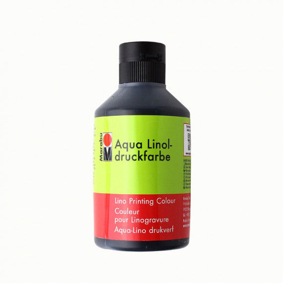 Linoldruckfarbe, 250 ml Flasche, schwarz