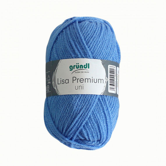 Wolle, 50 g Knäuel, hellblau
