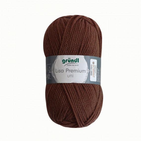 Wolle, 50 g Knäuel, mittelbraun