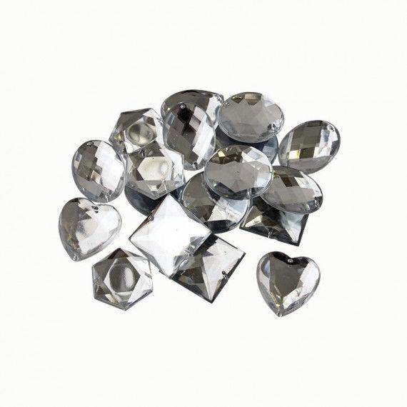 Schmucksteine, große Diamanten, weiß