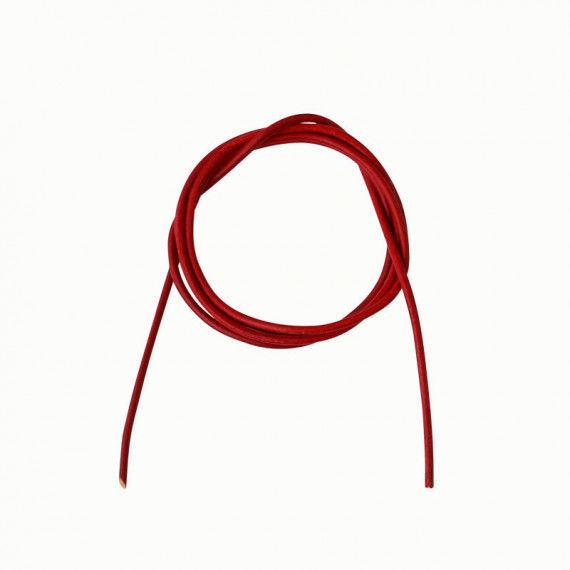 Lederband, 80 cm lang, rot