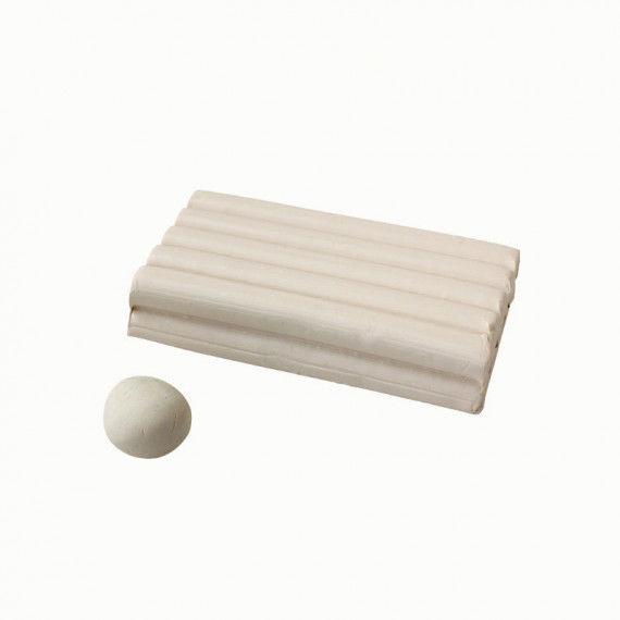 Knete, 250 g Block, weiß