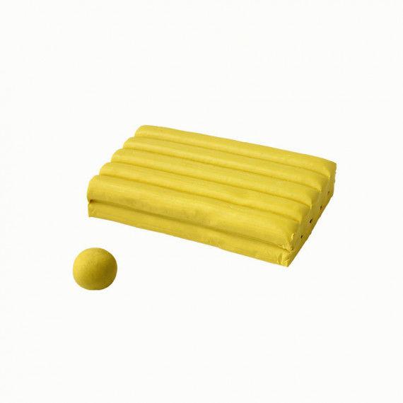 Knete, 250 g Block, gelb