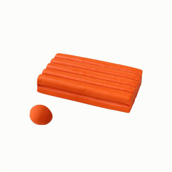 Knete, 250 g Block, orange