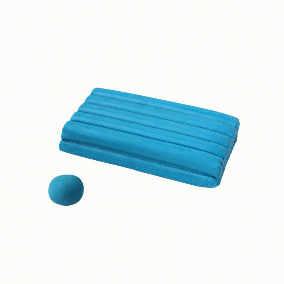 Knete, 250 g Block, blau