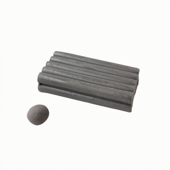 Knete, 250 g Block, grau