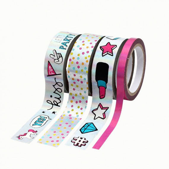 Washi Tape hotfoil mit Party-Motiven