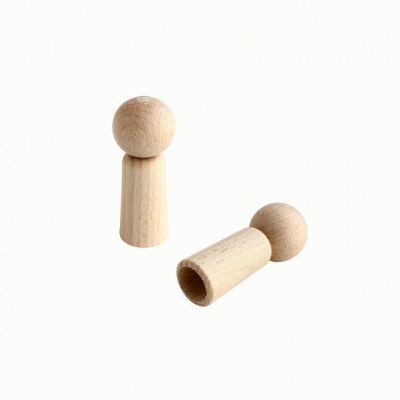 Fingerpuppe aus Holz