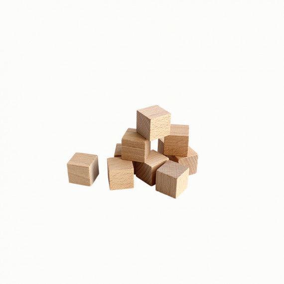 Holzwürfel, klein, 10 Stück