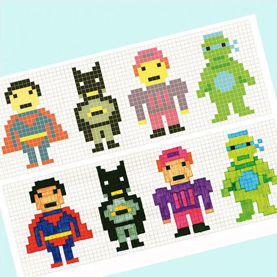 Pixel-Figuren nachzeichnen