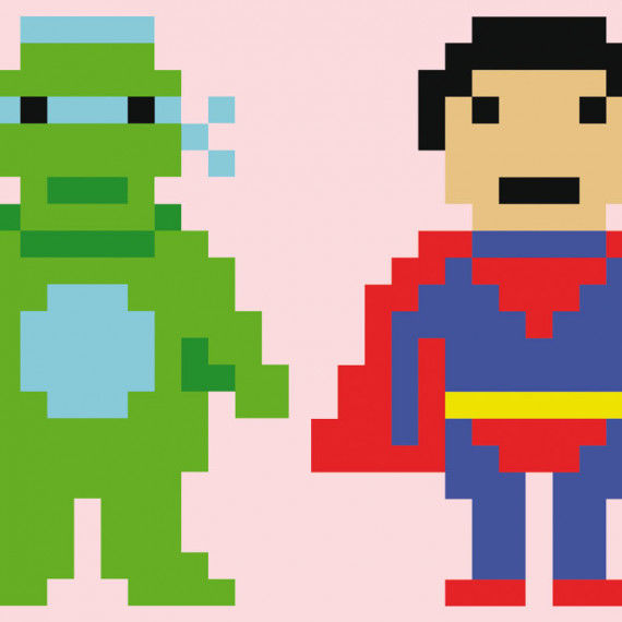 Coole Pixel-People Superhelden