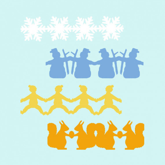 Papierketten mit Wintermotiven zum Herunterladen