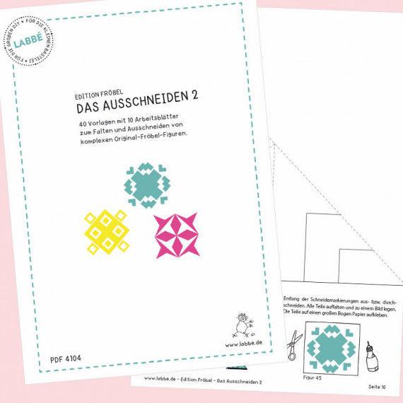 Beispielseiten aus dem PDF Das Ausschneiden 2 mit Vorlagen nach Fröbel