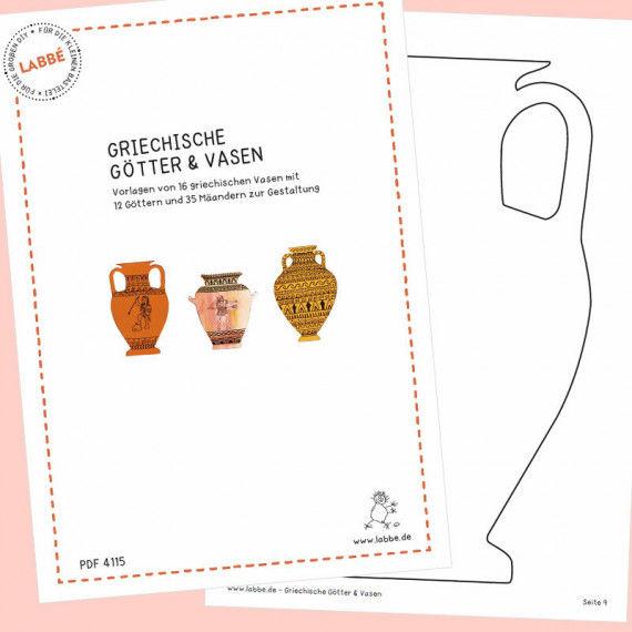 Griechische Götter & Vasen PDF - PDF-Shop | Labbé