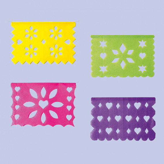 Mexikanische Scherenschnittbilder aus dünnem Papier zum Aufhängen