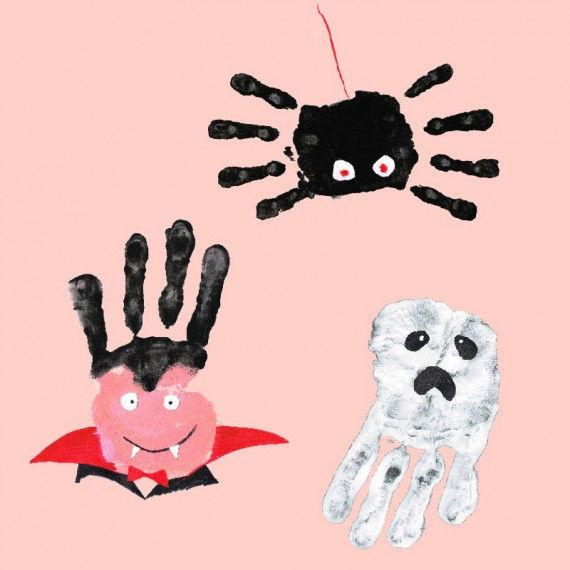 Gruselige Handprints