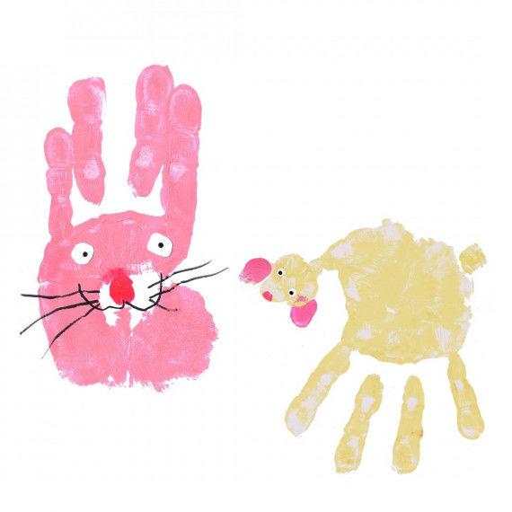 Fröhliche Handprints für Kinder