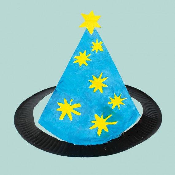 Witzige Märchen-und Fantasy-Hüte basteln aus einfachen Papptellern