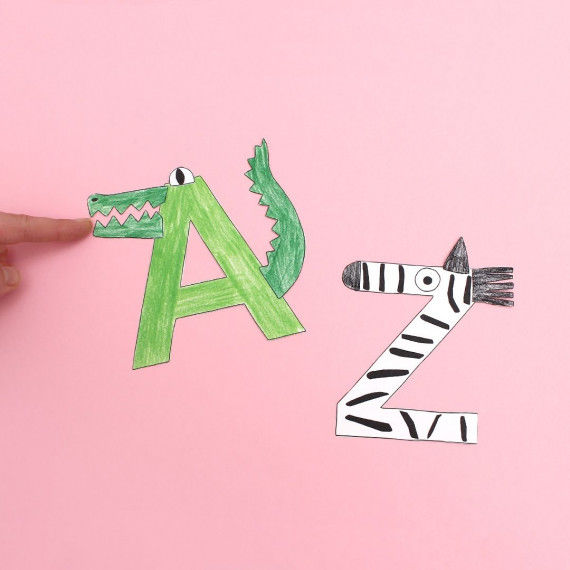 Animal Alphabet from A as in Alligator to Z as in Zebra