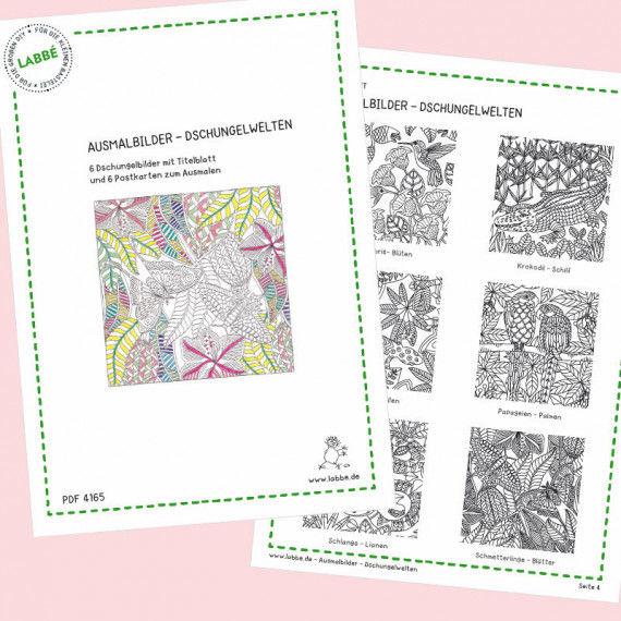 Ausmalbilder - Dschungelwelten PDF | Labbé
