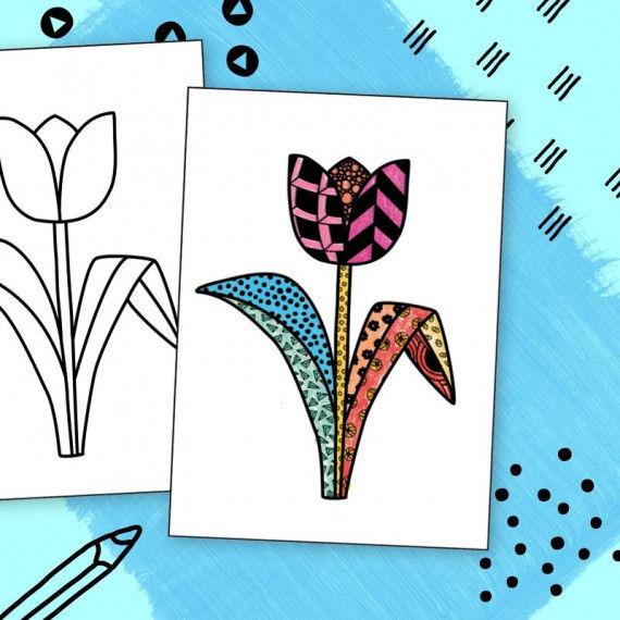 Doodle Tangles - Frühling
