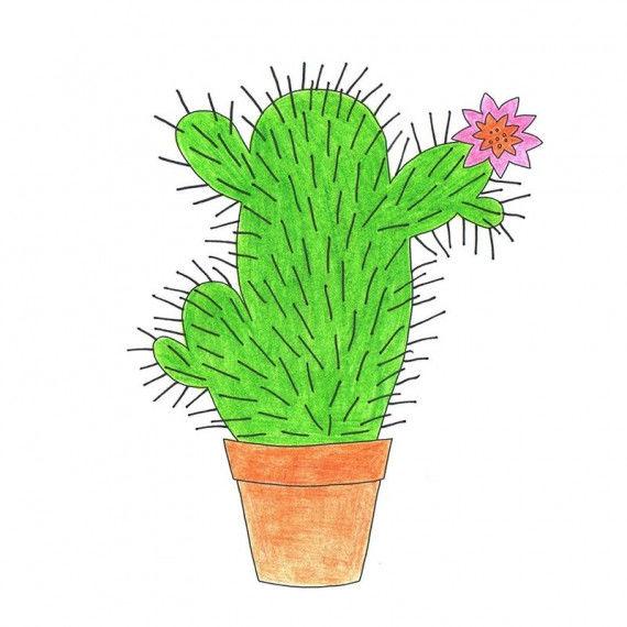Strich-Bilder - Kaktus