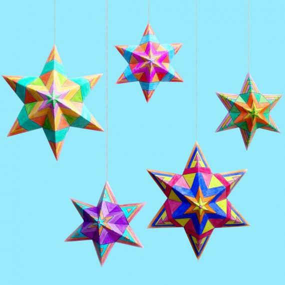 Penta-Sterne zum Aufhängen