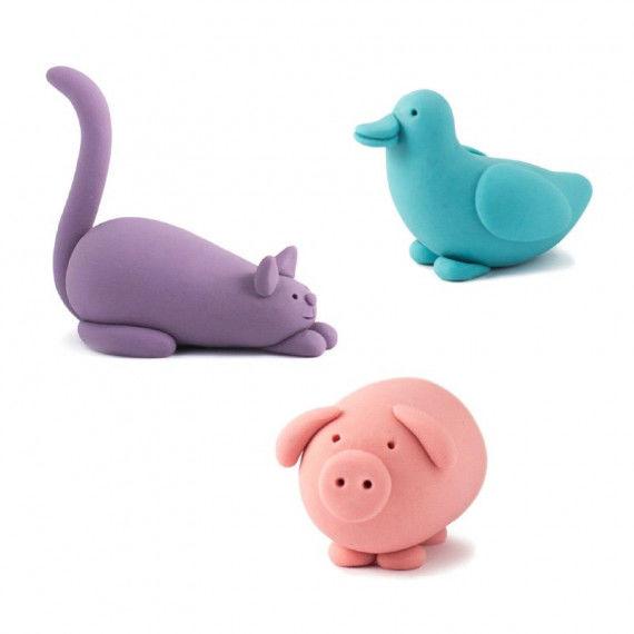 Witzige Tiere aus Knete
