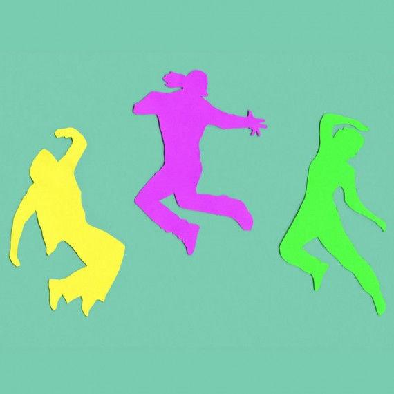 Street Dance-Collage aus Silhouetten