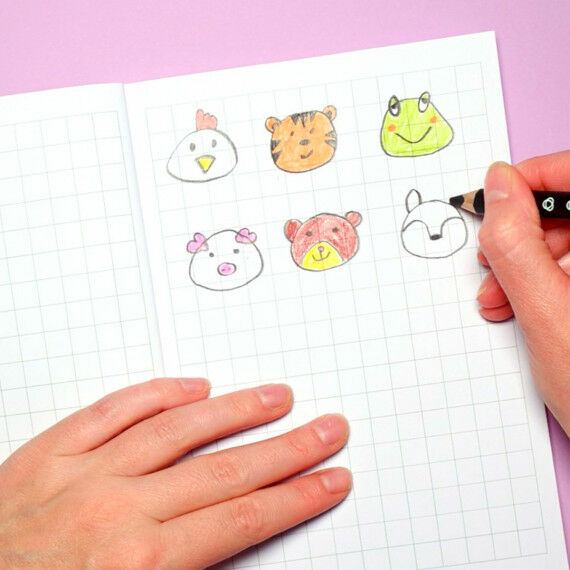 Süße Tiergesichter zeichnen lernen
