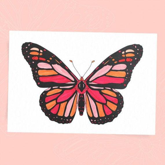 Malvorlagen mit naturgetreuen Schmetterlingen zum Ausmalen