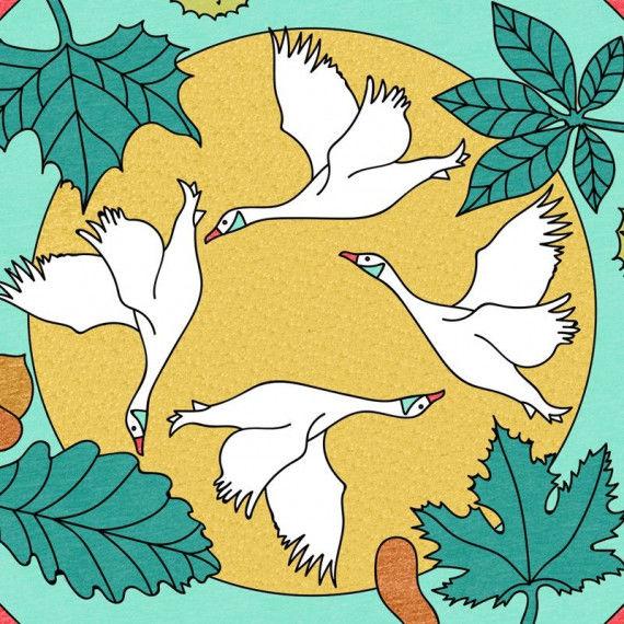 Mandala mit Naturmotiven - Oktober