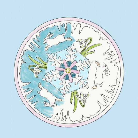 Mandala mit Naturmotiven - Januar