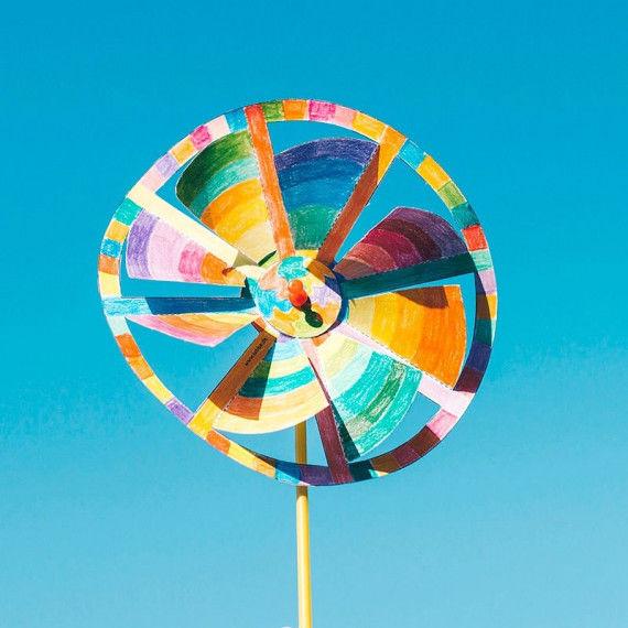 Windmühle basteln